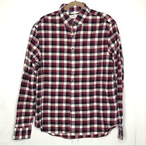 Men's Old Navy Slim Fit Plaid Button Down Shirt